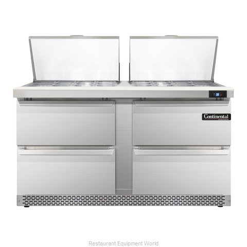 Continental Refrigerator SW60-24M-FB-D Refrigerated Counter, Mega Top Sandwich /