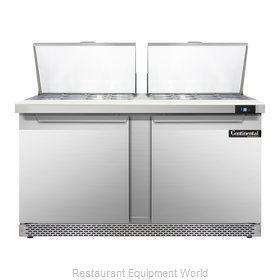 Continental Refrigerator SW60-24M-FB Refrigerated Counter, Mega Top Sandwich / S