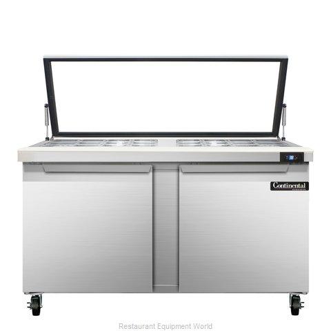 Continental Refrigerator SW60-24M-HGL Refrigerated Counter, Mega Top Sandwich /