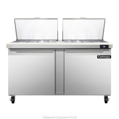 Continental Refrigerator SW60-24M Refrigerated Counter, Mega Top Sandwich / Sala