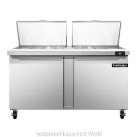 Continental Refrigerator SW60-24M Refrigerated Counter, Mega Top Sandwich / Sala