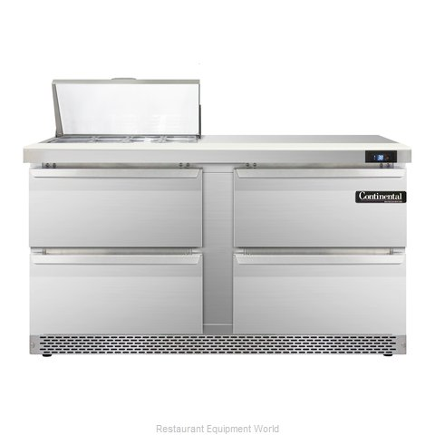 Continental Refrigerator SW60-8-FB-D Refrigerated Counter, Sandwich / Salad Top