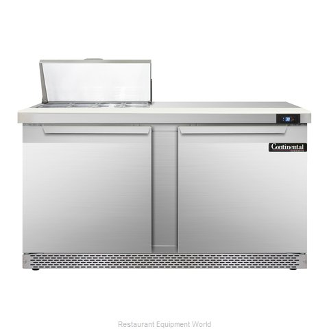 Continental Refrigerator SW60-8-FB Refrigerated Counter, Sandwich / Salad Top