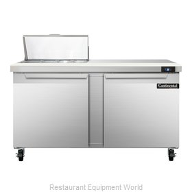 Continental Refrigerator SW60-8 Refrigerated Counter, Sandwich / Salad Top