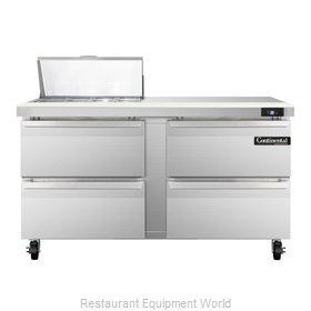 Continental Refrigerator SW60-8C-D Refrigerated Counter, Sandwich / Salad Top
