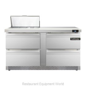 Continental Refrigerator SW60-8C-FB-D Refrigerated Counter, Sandwich / Salad Top