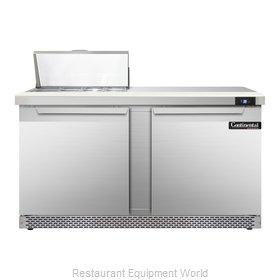 Continental Refrigerator SW60-8C-FB Refrigerated Counter, Sandwich / Salad Top
