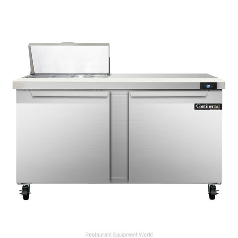 Continental Refrigerator SW60-8C Refrigerated Counter, Sandwich / Salad Top
