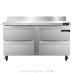 Continental Refrigerator SW60-BS-D Refrigerated Counter, Work Top