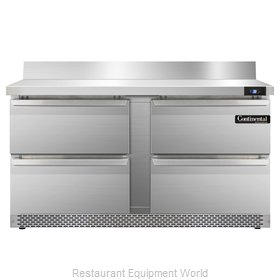 Continental Refrigerator SW60-BS-FB-D Refrigerated Counter, Work Top