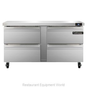 Continental Refrigerator SW60-D Refrigerated Counter, Work Top