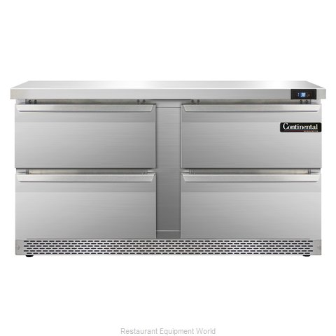 Continental Refrigerator SW60-FB-D Refrigerated Counter, Work Top