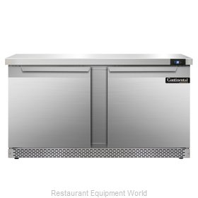 Continental Refrigerator SW60-FB Refrigerated Counter, Work Top