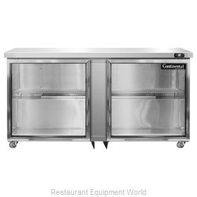 Continental Refrigerator SW60-GD-U Refrigerator, Undercounter, Reach-In