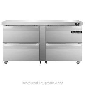 Continental Refrigerator SW60-U-D Refrigerator, Undercounter, Reach-In