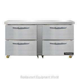 Continental Refrigerator SW60N-U-D Refrigerator, Undercounter, Reach-In
