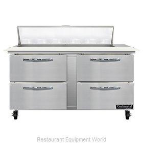 Continental Refrigerator SW60N12C-D Refrigerated Counter, Sandwich / Salad Unit
