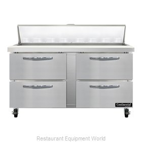Continental Refrigerator SW60N16-D Refrigerated Counter, Sandwich / Salad Unit