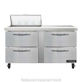 Continental Refrigerator SW60N8-D Refrigerated Counter, Sandwich / Salad Unit