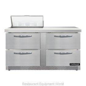 Continental Refrigerator SW60N8-FB-D Refrigerated Counter, Sandwich / Salad Unit