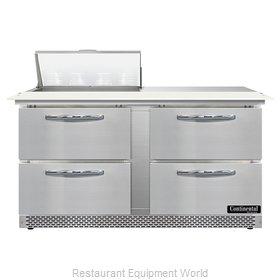 Continental Refrigerator SW60N8C-FB-D Refrigerated Counter, Sandwich / Salad Uni