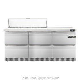 Continental Refrigerator SW72-12-FB-D Refrigerated Counter, Sandwich / Salad Top