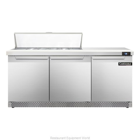 Continental Refrigerator SW72-12-FB Refrigerated Counter, Sandwich / Salad Top