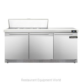 Continental Refrigerator SW72-12C-FB Refrigerated Counter, Sandwich / Salad Top
