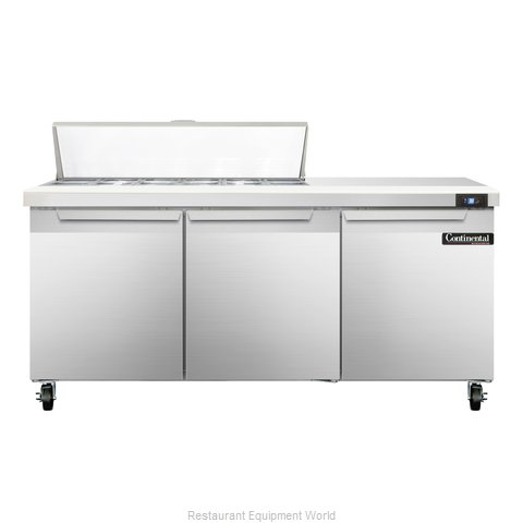 Continental Refrigerator SW72-12C Refrigerated Counter, Sandwich / Salad Top