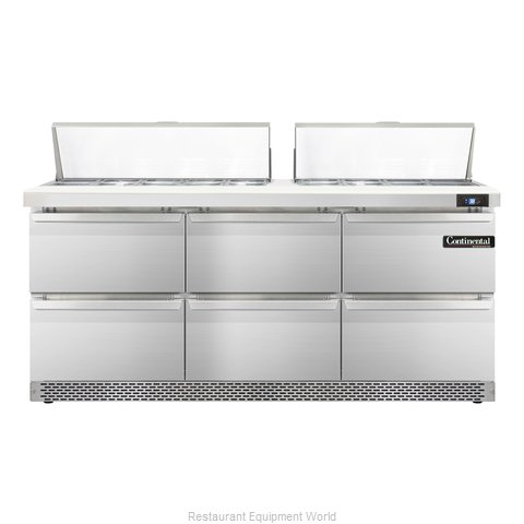 Continental Refrigerator SW72-18C-FB-D Refrigerated Counter, Sandwich / Salad To