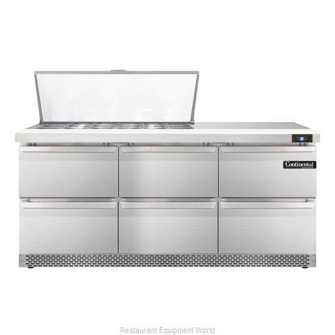 Continental Refrigerator SW72-18M-FB-D Refrigerated Counter, Mega Top Sandwich /