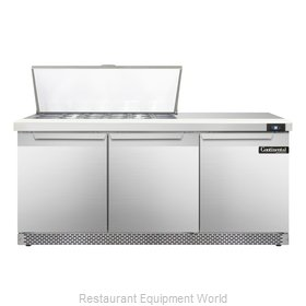 Continental Refrigerator SW72-18M-FB Refrigerated Counter, Mega Top Sandwich / S