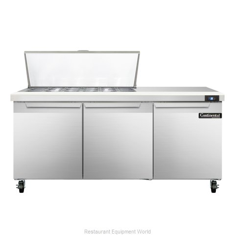 Continental Refrigerator SW72-18M Refrigerated Counter, Mega Top Sandwich / Sala