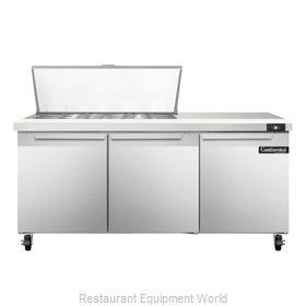 Continental Refrigerator SW72-18M Refrigerated Counter, Mega Top Sandwich / Sala