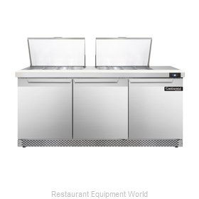 Continental Refrigerator SW72-24M-FB Refrigerated Counter, Mega Top Sandwich / S