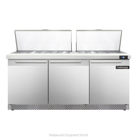 Continental Refrigerator SW72-27M-FB Refrigerated Counter, Mega Top Sandwich / S