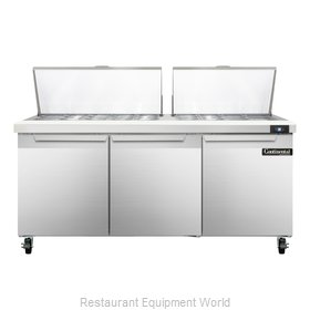 Continental Refrigerator SW72-27M Refrigerated Counter, Mega Top Sandwich / Sala