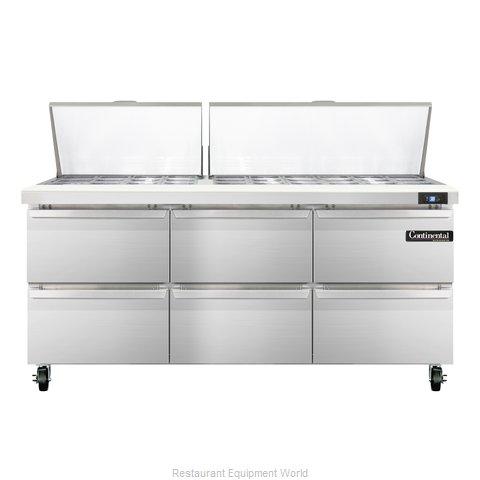 Continental Refrigerator SW72-30M-D Refrigerated Counter, Mega Top Sandwich / Sa
