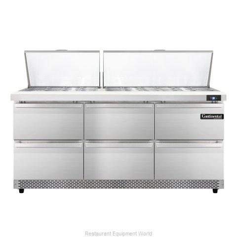 Continental Refrigerator SW72-30M-FB-D Refrigerated Counter, Mega Top Sandwich /