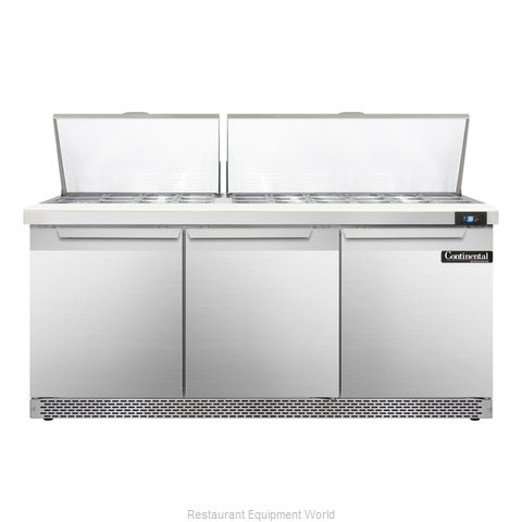 Continental Refrigerator SW72-30M-FB Refrigerated Counter, Mega Top Sandwich / S