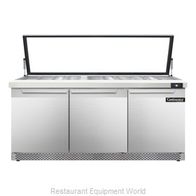 Continental Refrigerator SW72-30M-HGL-FB Refrigerated Counter, Mega Top Sandwich
