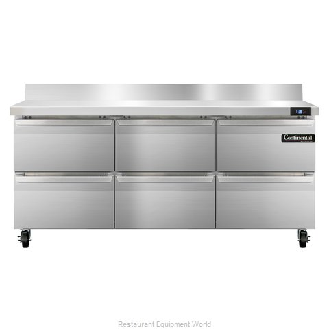 Continental Refrigerator SW72-BS-D Refrigerated Counter, Work Top