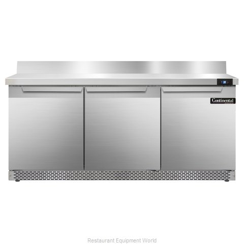 Continental Refrigerator SW72-BS-FB Refrigerated Counter, Work Top