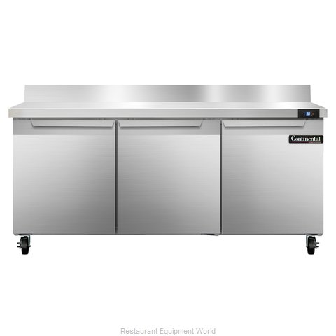 Continental Refrigerator SW72-BS Refrigerated Counter, Work Top