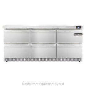 Continental Refrigerator SW72-FB-D Refrigerated Counter, Work Top
