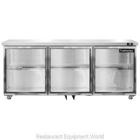 Continental Refrigerator SW72-GD-U Refrigerator, Undercounter, Reach-In