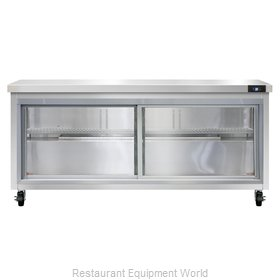 Continental Refrigerator SW72-SGD Refrigerated Counter, Work Top
