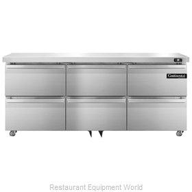 Continental Refrigerator SW72-U-D Refrigerator, Undercounter, Reach-In