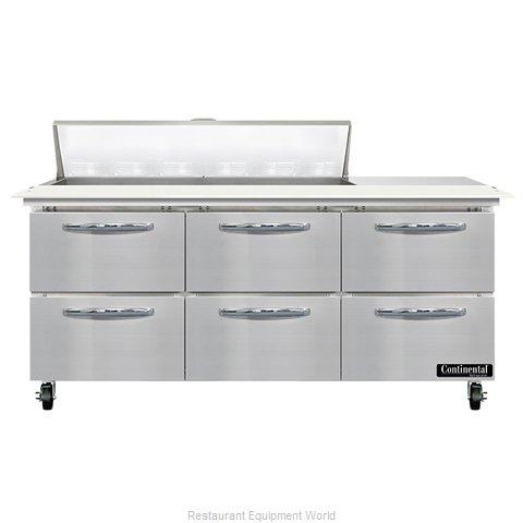 Continental Refrigerator SW72N12C-D Refrigerated Counter, Sandwich / Salad Unit