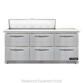 Continental Refrigerator SW72N12C-FB-D Refrigerated Counter, Sandwich / Salad Un